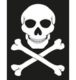 pirate skull and crossbones 02 vector image