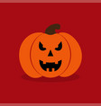 pumkin on red background vector image