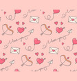 romantic symbols seamless pattern vector image