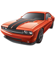 orange muscle car vector image vector image