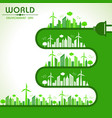 world environment day greeting vector image vector image