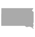 Map of South Dakota vector image