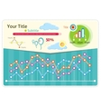 Infographics weather icons and elements vector image