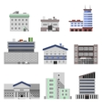 Office buildings flat vector image