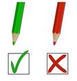 pencil marks vector image vector image