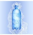 Transparent bottle of water vector image