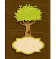 vintage of the tree vector image