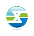 Logo circleletter X good style lettering vector image