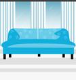 Blue sofa vector image