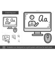 E-learning line icon vector image