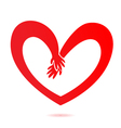 Hands and heart love vector image