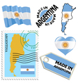 national colours of Argentina vector image