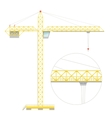 Simple flat crane vector image