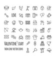 valentines day icons romantic design elements vector image