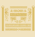 vintage old decorations ornate design elements vector image