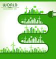 world environment day greeting vector image