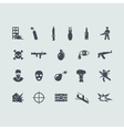 Set of terrorism icons vector image