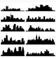 city silhouettes vector image vector image