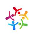 Teamwork networking logo vector image vector image