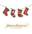 Christmas stockings greeting card vector image vector image