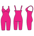 Woman outlined slimming underwear vector image