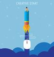 creative start concept flat vector image