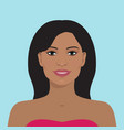 beautiful woman avatar vector image