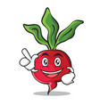 have an idea radish character cartoon collection vector image