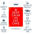 Keepcalm vector image