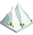 mountain snow isometric view vector image