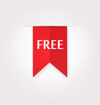 Red Label Icon of Free Product vector image