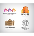 set of house logos hotel apartment real vector image