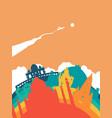 travel india world landmark landscape vector image