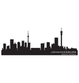 Johannesburg South Africa skyline Detailed silhoue vector image vector image