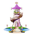 pink fairytale castle vector image