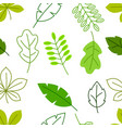 seamless floral pattern with stylized green leaves vector image