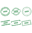 WWW stamps vector image