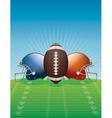 American Football Helmets and Ball vector image