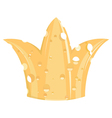 crown of cheese vector image