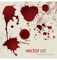 Splattered blood stains set 5 vector image vector image
