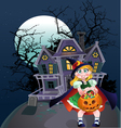 halloween trick or treaters vector image vector image