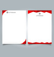 abstract creative letterhead design template red vector image