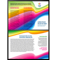 Brochure 3d line colorful vector image