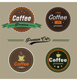 Coffee elementsbadge in vintage style vector image