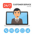 customer servicetechnical support call center vector image