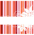 floral abstract banner vector image