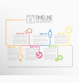 infographic timeline report template with lines vector image