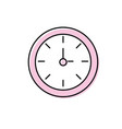 round wall clock object to know the time vector image
