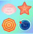 set of of the summer sale vector image