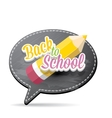 Back to school label on grey speech bubble vector image